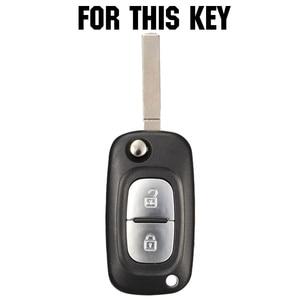 Image 2 - Silicone Car Key Cover Case Shell Fob For Renault Clio Megane Kangoo Modus Flip Remote Key Case 2 Button