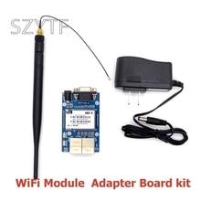 HLK RM04 RM04 uartシリアルポートとイーサネット無線lanワイヤレスモジュールアダプタボード開発キットdiy