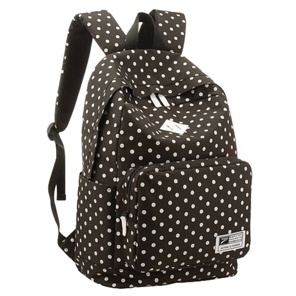 Latest trend fashion canvas dots bags backpack fashion girls ...