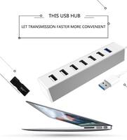 Llano USB Splitter 4 With Power Cord HUB 4 USB3 0 Multi Port High Speed Expansion