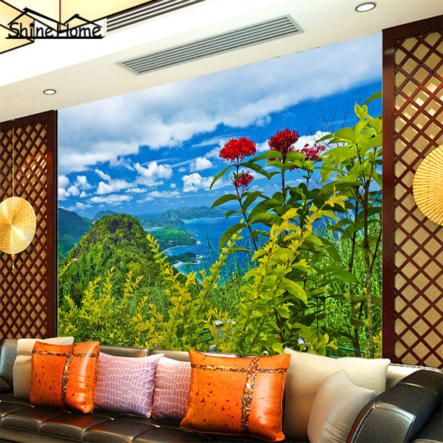 Beautiful Dancing Flower in Mountains Landscape Photo 3d Wallpaper for Wall 3 d Livingroom Non-woven Mural Rolls Bedroom Decor luxury soft roll classical background 3d wall paper room mural rolls photo wallpaper for wall 3 d hotel livingroom bedroom decor
