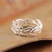 Бесплатная доставка красивые открытые кольца в виде ветки листьев