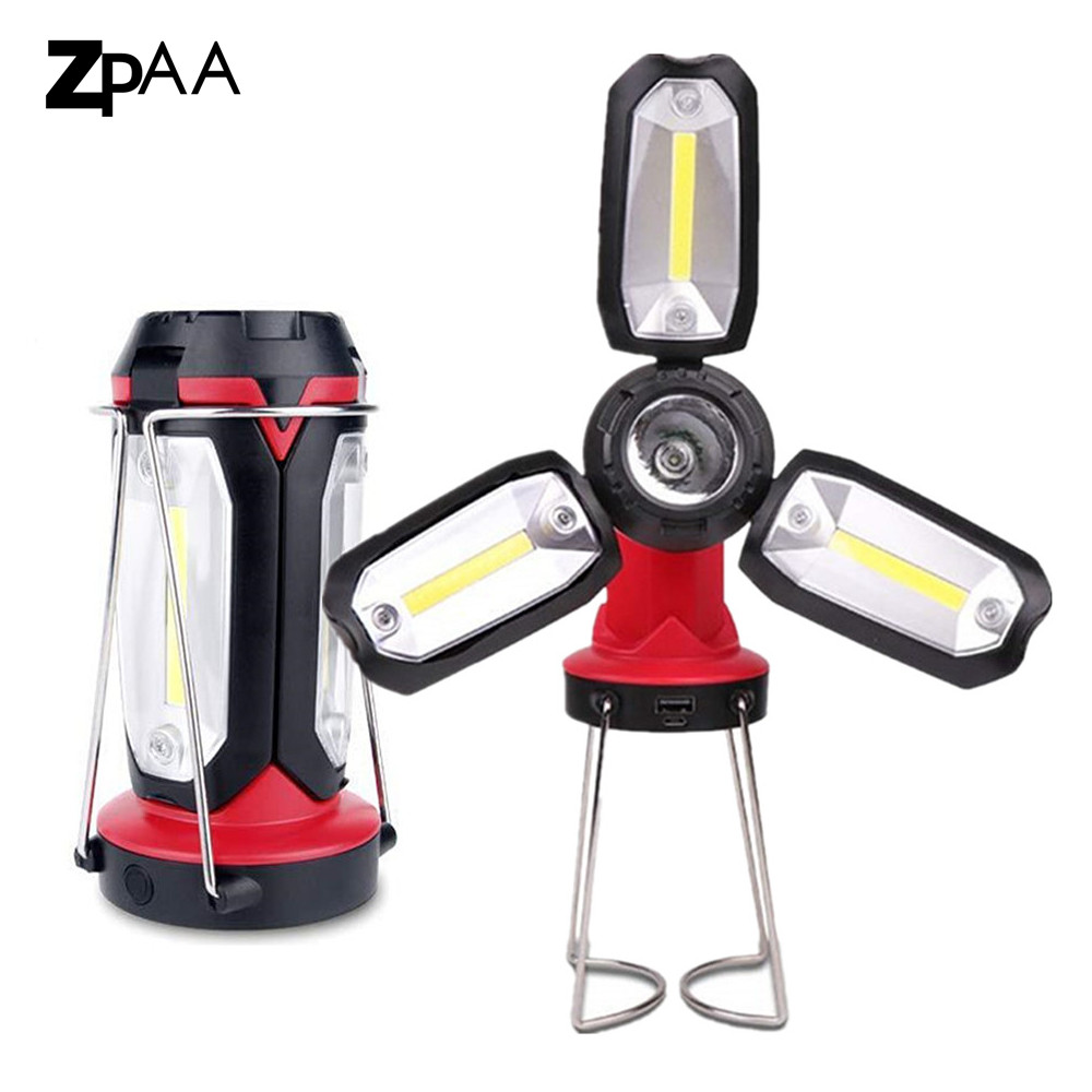 COB LED Work Light Rechargeable Camping Light LED Spotlight,Super Bright 3x COB LED & 3W XPE LED Spotlight Built-in Battery led lamp usb rechargeable built in battery cob xpe led light with magnet portable flashlight outdoor camping working torch lamps