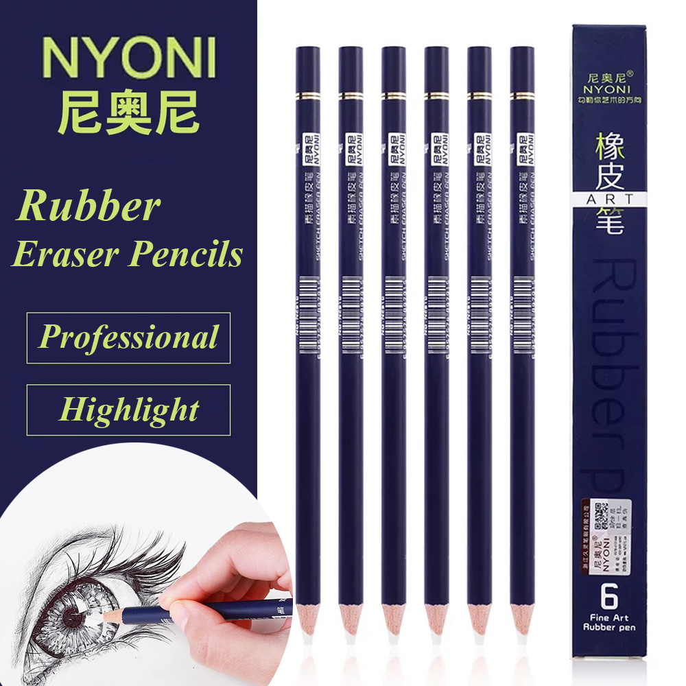 NYONI Highlight Pen Style Elastone Eraser Pencil Rubber Revise Details Highlight Modeling For Manga Design Drawing Art Supplies highlight fan meeting bangkok