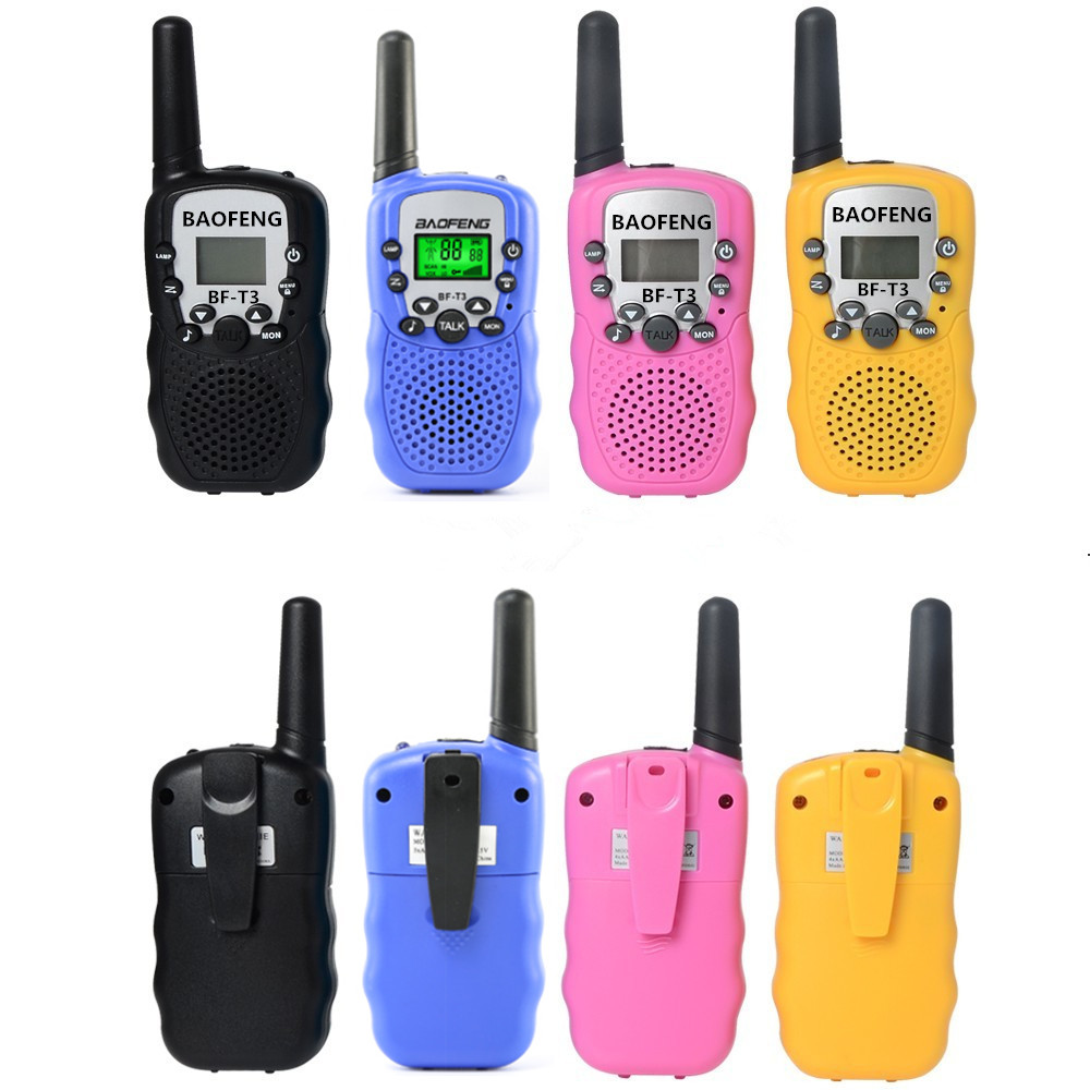 2pcs Wholesale <font><b>Children</b></font> Mini Kids UHF Walkie Talkie <font><b>BF</b></font>-T3 Baofeng FRS Two Way Radio Comunicador T3 Handy Talkie Hf Transceiver image
