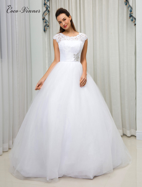 C.V American and European Simple Brief Ball Gown Wedding Dress 2018 ...