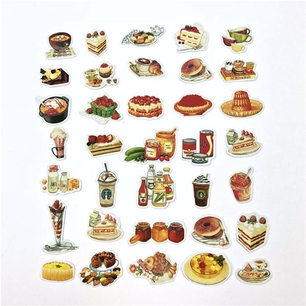 1 пакет, милые Мультяшные декоративные наклейки в Корейском стиле, клейкие наклейки, скрапбукинг, сделай сам, декоративные наклейки для дневника - Цвет: 20