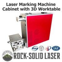 Портативный волоконно лазерный маркировочный станок шкаф маркер чехол с 3 Осями Рабочий стол 1064нм diy запчасти IPG лазерный источник оптовая п