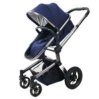 Fashion Luxury SUV Baby Stroller, Multi Suspension Foldable Pushchair, Bidirectional Baby Pram, 4 Wheels Baby Carriage