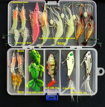 Hot New Multi Fishing Lure Mixed Colors Plastic Metal Bait Soft Lure Kit Fishing Tackle Wobbler Spoon Pesca Peche Artificias