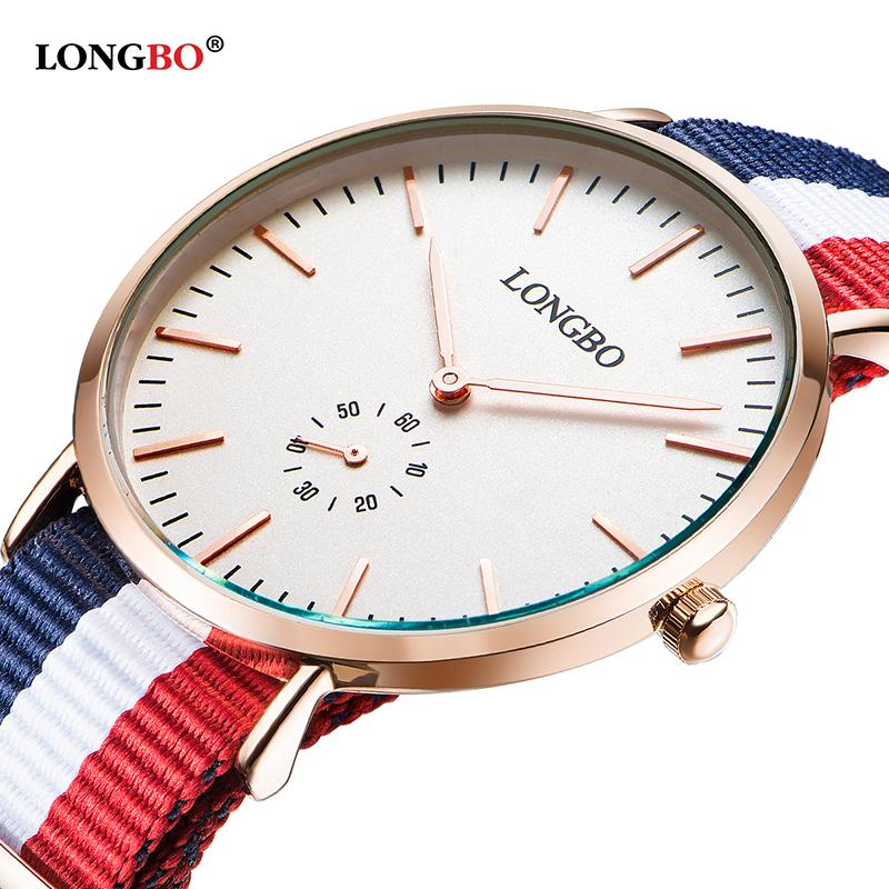 Prix pour LONGBO Hommes Armée Sport Analogique Poignet Montres OTAN Nylon Bracelet Genève Quartz Horloge 80255