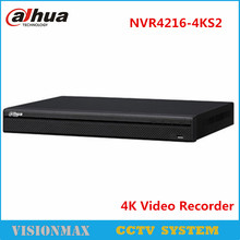 Dahua 4K 16CH NVR NVR4216-4KS2 up to 8Mp Onvif Network video recorder Preview and Playback English Version Security System
