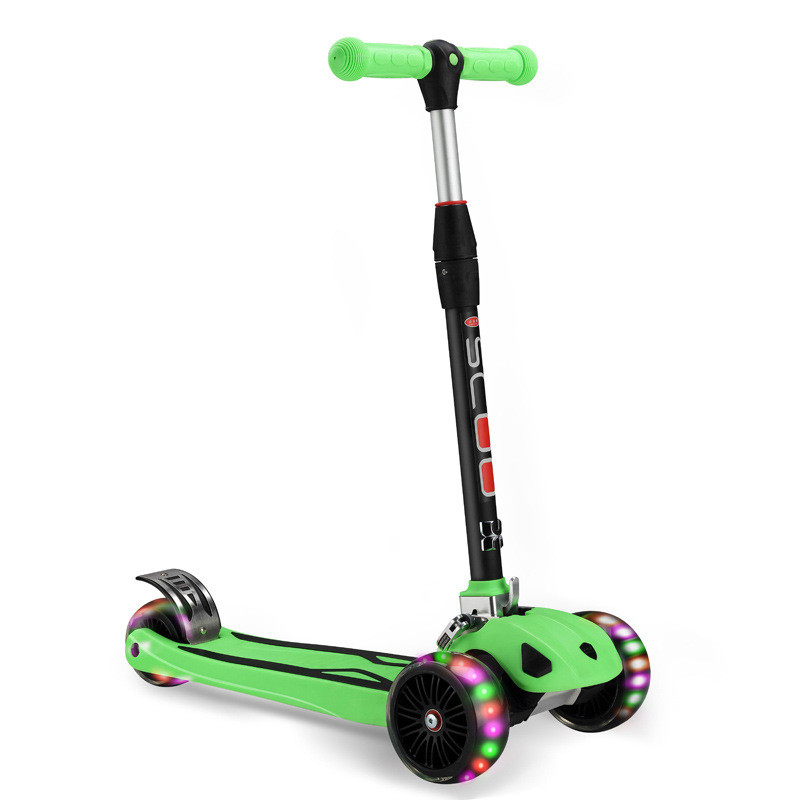 Children Foldable Kick Scooter 3Wheels LED Flash Light Outdoor Kids Scooter Gift electric kick scooter foldable aluminium alloy electric scooter for adult lcd display 2 wheels led light 120kg load hot sale