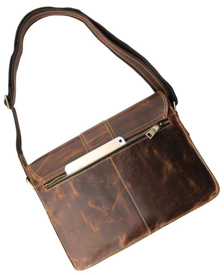 Wysokiej jakości oryginalna skórzana torba kurierska damska Torba - Torebki - Zdjęcie 5