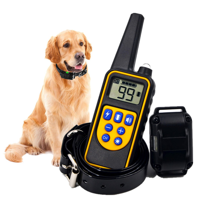 800m Electric Dog Training Collar Pet Remote Control Waterproof Rechargeable with LCD Display For All Size Dog Bark-stop Collars dog care training collar