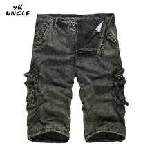 2016 New Men's Camouflage Cargo Fashion Short Pant Man Pockets Loose Beach Pants Summer Mens Outwear Short Trouser,YK UNCLE