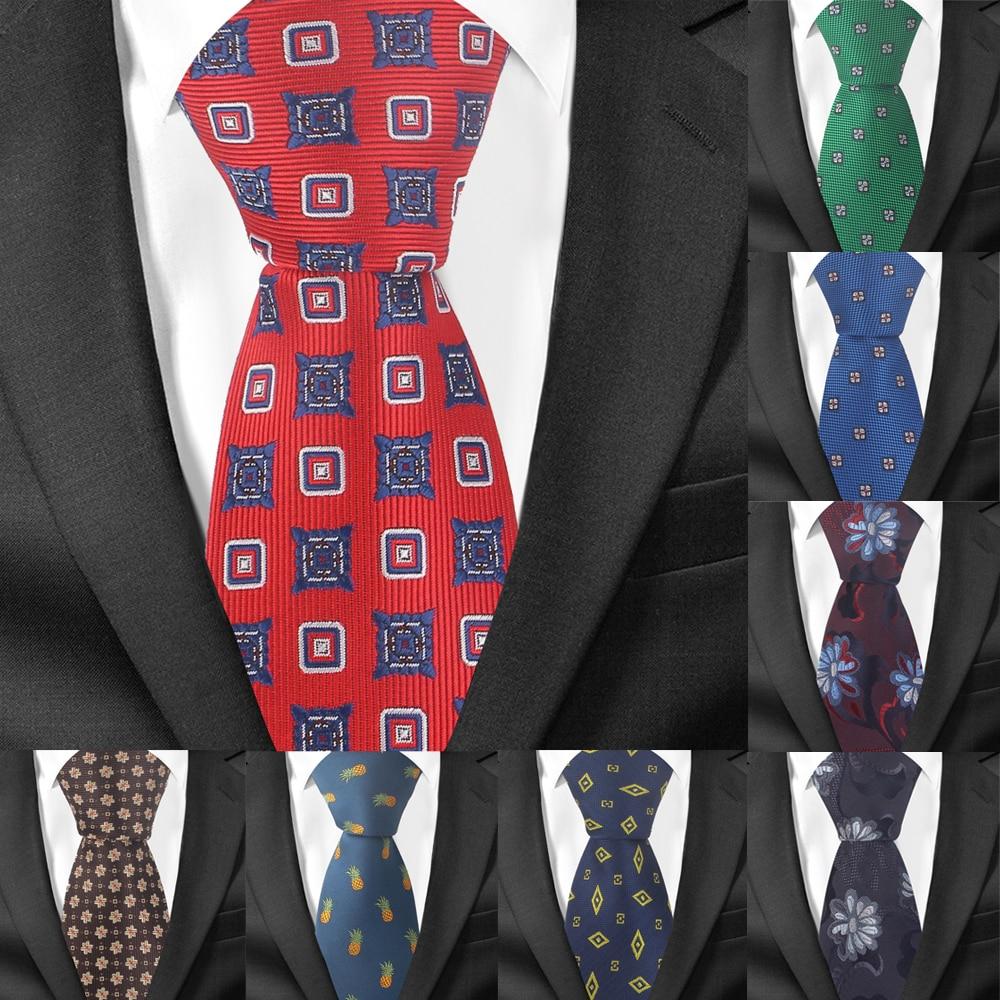 Fashion Floral Tie For Men Women Polyester Jacquard Neck Tie For Wedding Business Suits Skinny Ties Slim Men Necktie Gravatas