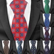 купить Fashion Floral Tie For Men Women Polyester Jacquard Neck Tie for Wedding Business Suits Skinny Ties Slim Men Necktie Gravatas по цене 184.13 рублей