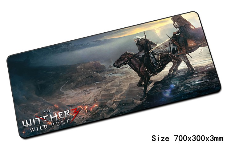 best witcher mouse pad 700x300x3mm pad to mouse notbook computer mousepad High quality gaming padmouse gamer to laptop mouse mat