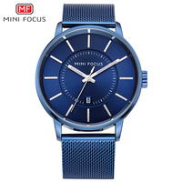 Relogio Masculino MINI FOCUS Stainless Steel Date Clock Top Brand Luxury Casual Military Sports Watches Men