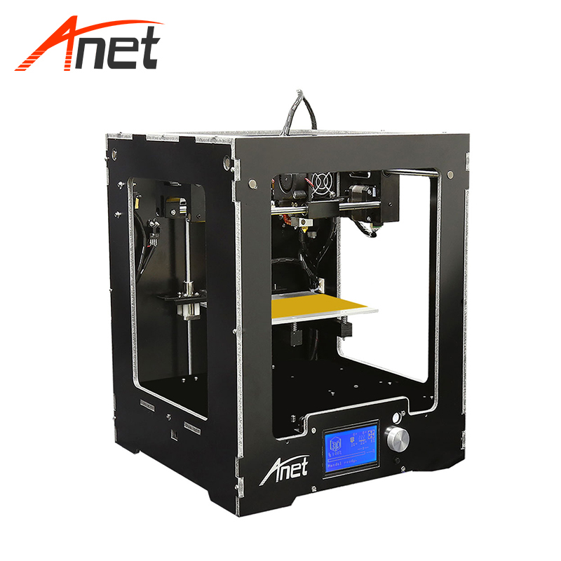 Anet A3S Aluminum Casing 3d Printing Machine Impressora 3d Highest Accuracy 12864 LCD Screen Home 3d Printer 0.4mm Extruder Dia. image