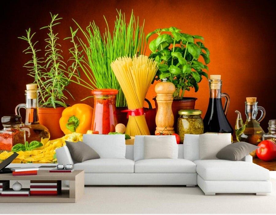 Still-life Spices Tomatoes Pepper Food wallpaper,restaurant living room sofa TV wall bedroom 3d wallpaper mural papel de parede