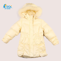 2018 SP SHOW Winter Children Outwear Hooded Girls Winter Jacket Russian Luxury Girl Parka Down & Parkas For 5 9 Age 9248
