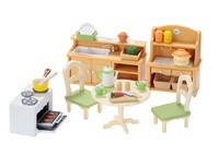Free shipping by trackable shipping Original Sylvanian Family of country kitchen set pretend Toys Child gift