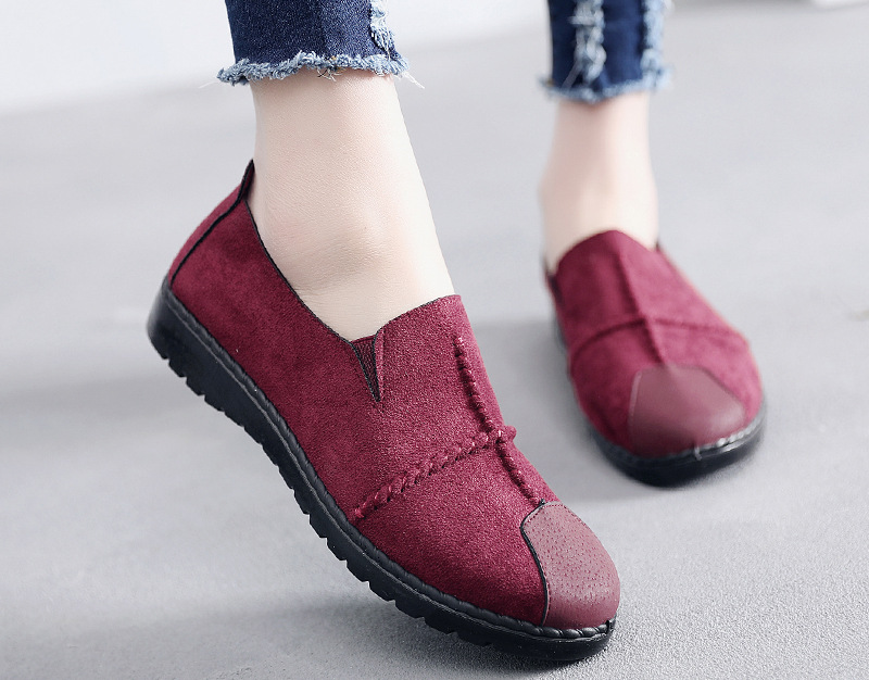 Plus Size Summer Women Flats Fashion Splice Flock Loafers Women Round Toe Slip On Leather Casual Shoes Moccasins New 2019 VT209 (6)