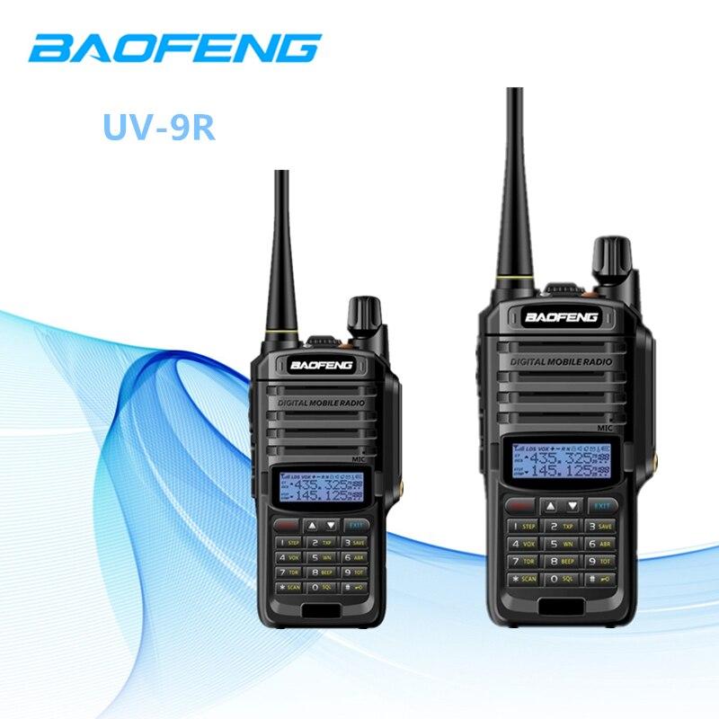 2PCS Baofeng Walkie Talkie 10km UV 9R IP67 Waterproof Dual Band Portable Ham Radio 8W Baofeng
