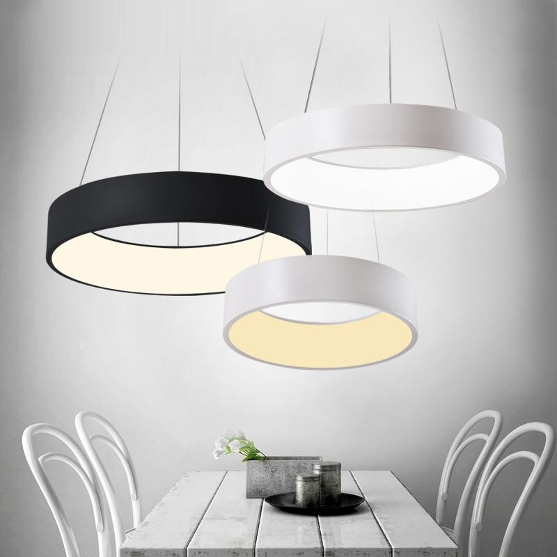 Modern led Pendant Light for Home Restaurant 24W LED Pendant Lamp Round Hanging Lustre AC 96V-240V acrylic indoor ZDD0039 цена
