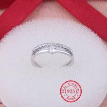O Envio gratuito de 925 Anéis de Prata Esterlina Para Mulheres Jóias Bonito Anéis de Dedo Aberto Para O Partido do Presente de Aniversário