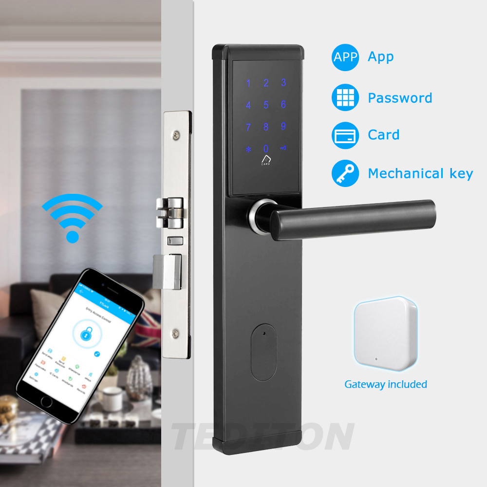 Electronic Door Lock,Smart Bluetooth Digital APP Wifi Keypad Code Keyless Door Lock,Password Keyless Door LockElectronic Door Lock,Smart Bluetooth Digital APP Wifi Keypad Code Keyless Door Lock,Password Keyless Door Lock