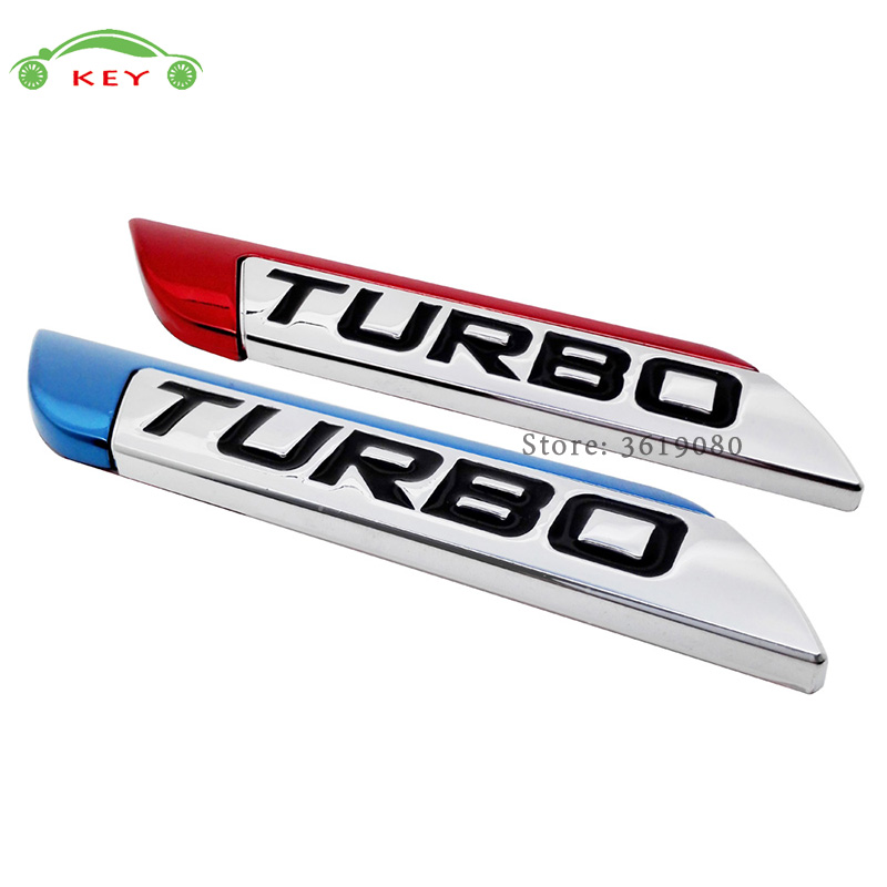 Car Styling Car Sticker Turbo Logo Auto Metal Decal Emblem Badge for Suzuki ISUZU Volvo SSANG YONG Tesla SAAB Acura Buick Skoda