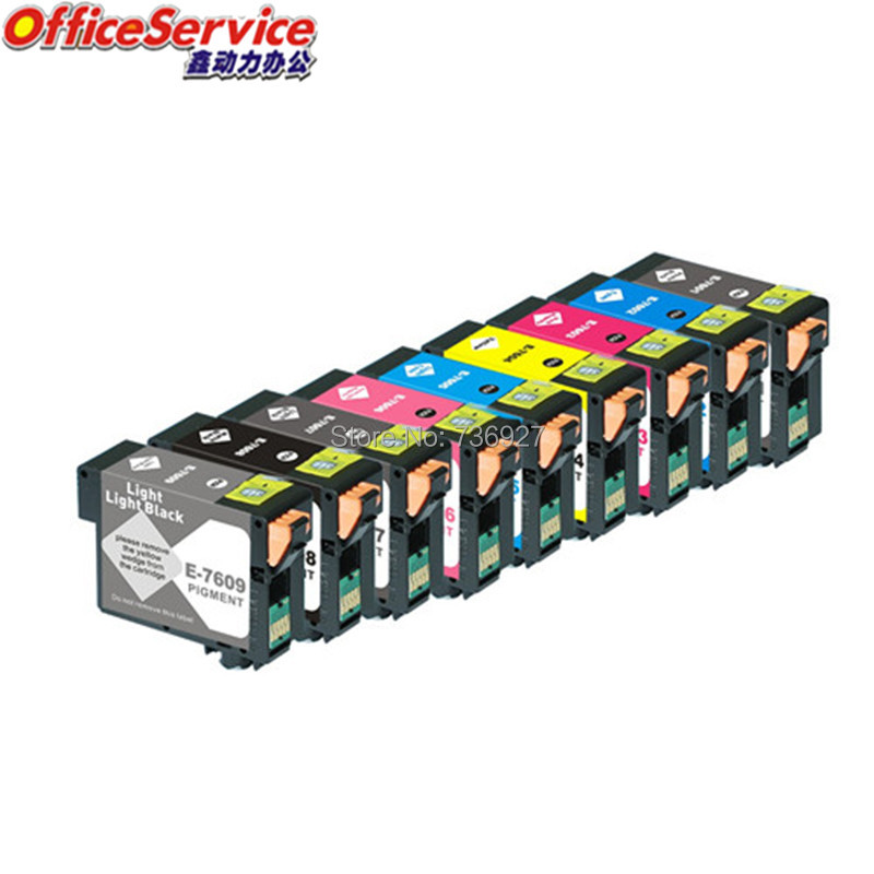 9 color T7601 T7602 T7603 T7604 T7605 T7609 Compatible ink Cartridge Full Ink For Epson SURECOLOR