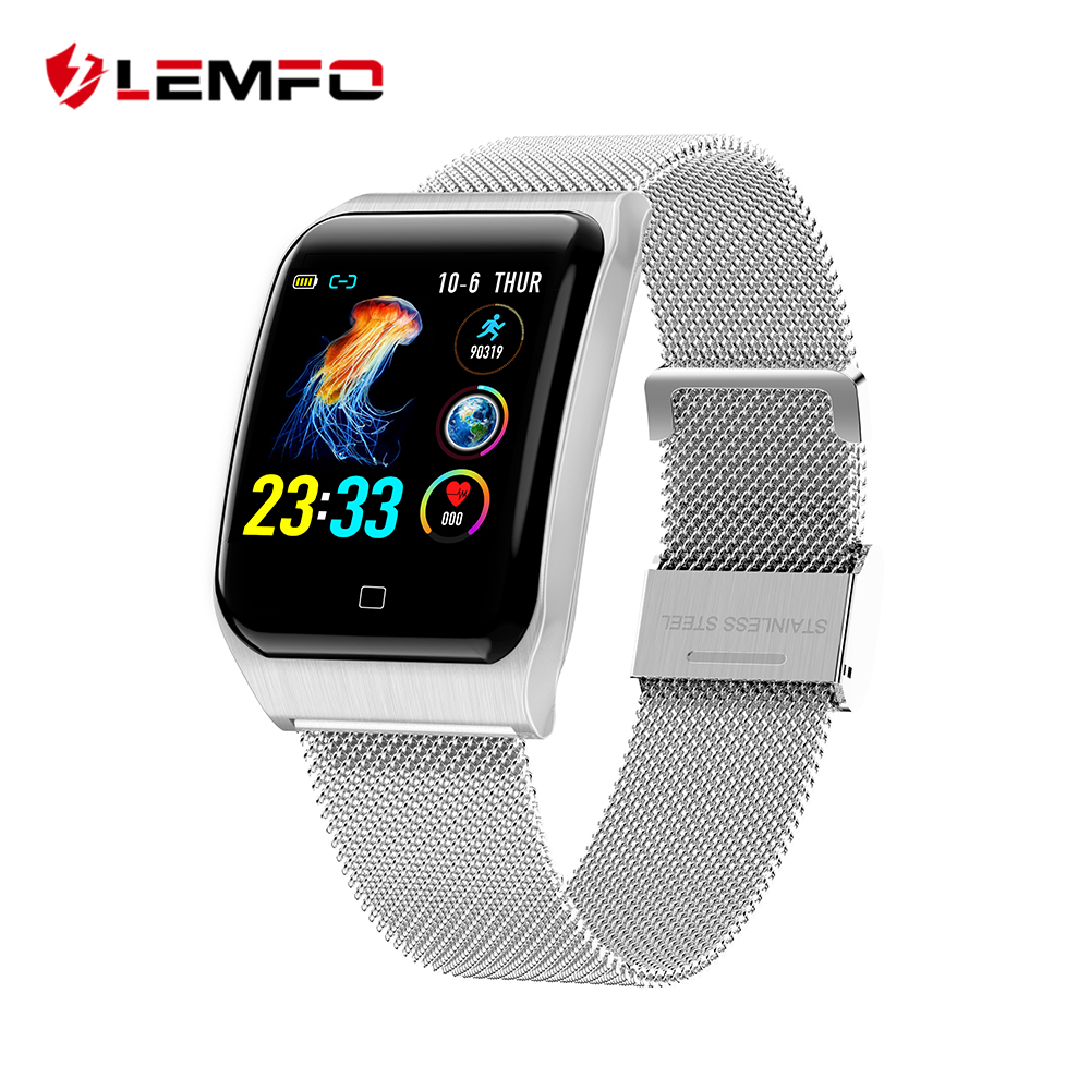 LEMFO Blood-Pressure-Monitor Strap 200mah-Battery Smart-Watch IP68 Waterproof Sport F9