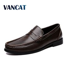 2019 New Men's Boat Footwear Fashion Genuine Leather Loafers Breathable Casual Shoes Comfo
