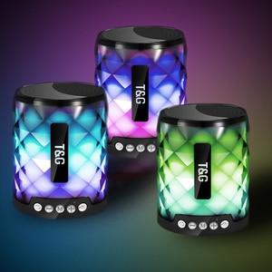Image 2 - TG coloré Led haut parleur Bluetooth Portable extérieur basse haut parleur sans fil Mini colonne Support TF carte FM stéréo Hi Fi boîtes