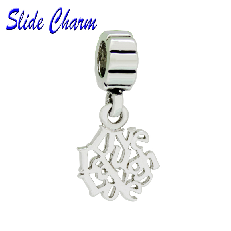 Autism Charms For Pandora Bracelets: Slide Charm Free Shipping Care For Autism Charm Beads Fit