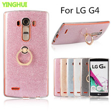 For LG G4 Case H815 H810 VS986 F500 Case Flash powder 3D Relief Phone Case For LG G4 Case tpu Silicone Soft Back Cover With Ring