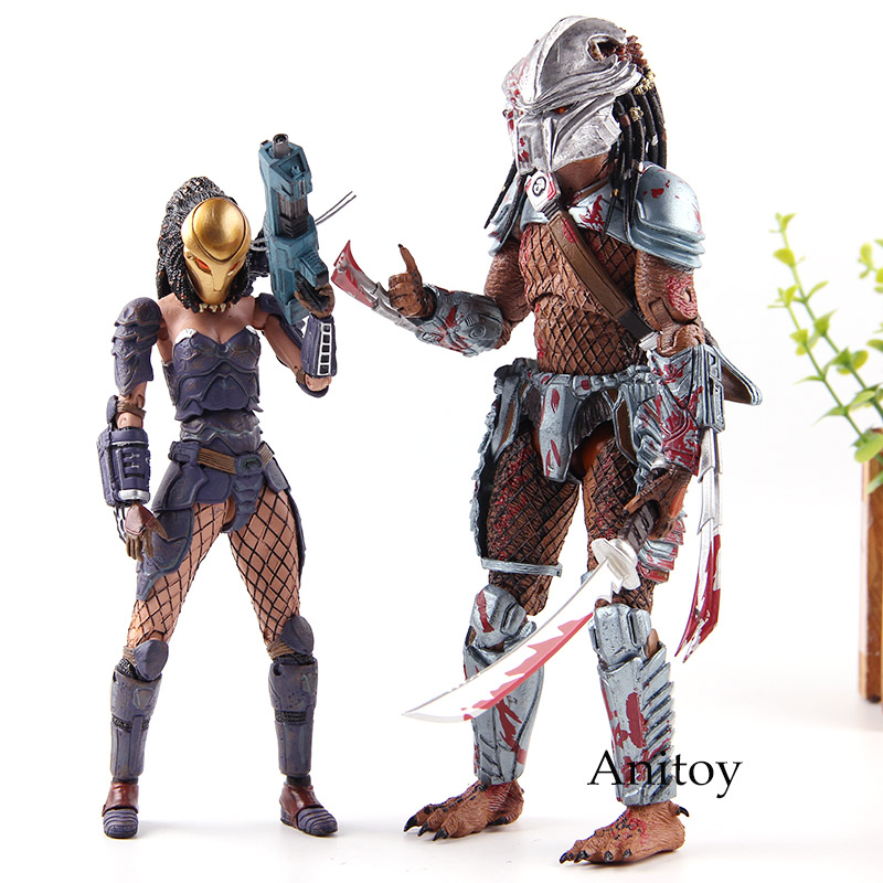 AVP <font><b>Alien</b></font> Vs Predator Action Figures Machiko Noguchi Hornhead Predator PVC Collection Model Toys image