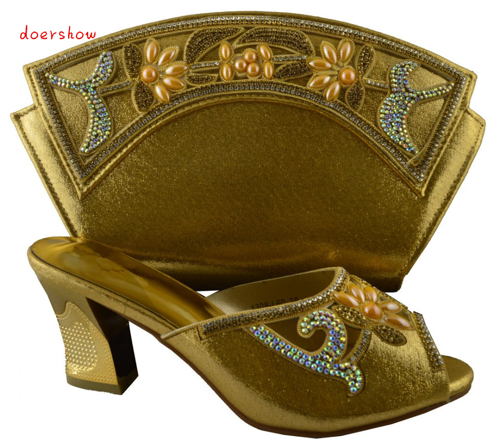 doershow New Arrival Italian Shoea Matching Bag African Woman Shoes And Bag Set Free Shipping By DHL !HZL1-18 цены онлайн