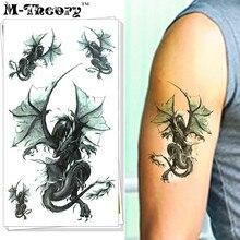 M-theory 3D Dragons Body Makeup Temporary 3d Tattoos Sticker Henna Flash Tatoos Body Arts Swimsuit Makeup Tools