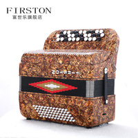 Celluloid 34 Buttons 60 Bass Accordion with case and staps musical instruments professional Piano Accordions