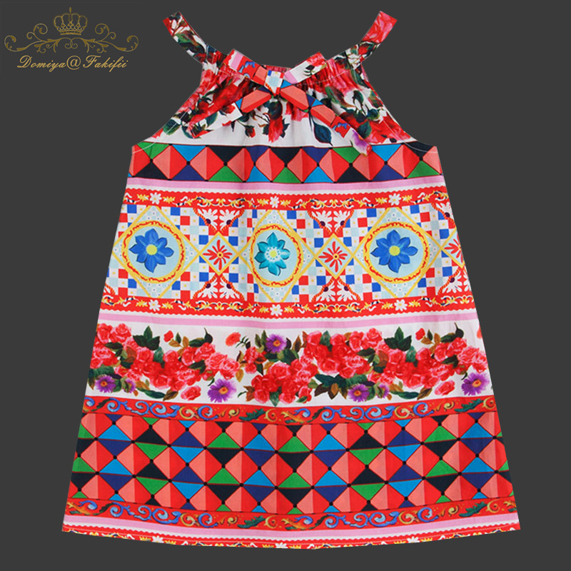 2018 Summer Toddler Dresses Girls Clothing 100% Cotton Baby Girls Dress Tunic Princess Beach Dress Costume for Kids Clothes bering часы bering 11435 765 коллекция ceramic