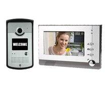 """7 """"Color TFT LCD Sin La Radiación Teléfono de la Seguridad Casera Video de La Puerta de Intercomunicación Timbre de La Cámara con Monitor LCD Envío Gratis"""