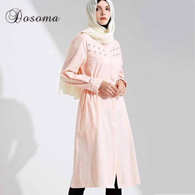9102b1e95863f Musulman Femmes Chemise Robe Abaya Coton Grande Taille Jilbab Tunique Longue  Robe Robes Cardigan Kimono Arabe