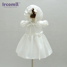 Ircomll Newborn Baby Girls Brithday Christening Gown White