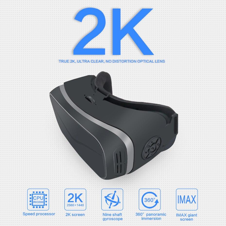 3D Lunettes 2 k VR Lunettes Boîte Casque 110 Degrés 2560*1440 IPS 5.5 pouce TFT Soutien 2.0 Type C HDMI OUT VR Tout En Un