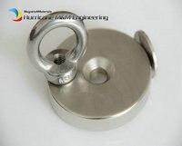 1 Pcs NdFeB Lifting Magnet Dia 60 X 10mm With M8 Screw Countersunk Hole N52 Neodymium